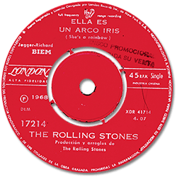 The Rolling Stones : She's A Rainbow - Chile 1968