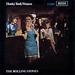The Rolling Stones : Honky Tonk Women - Denmark / UK 1969