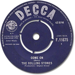 The Rolling Stones : Come On - Ireland 1963