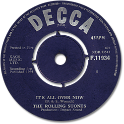The Rolling Stones : It's All Over Now - Ireland 1964