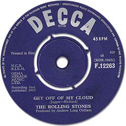 The Rolling Stones : Get Off Of My Cloud - Ireland 1965