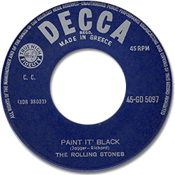The Rolling Stones : Paint It, Black - Greece 1966
