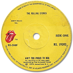 The Rolling Stones : Ain't Too Proud To Beg - India 1974