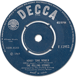 The Rolling Stones : Honky Tonk Women - India 1969