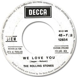 The Rolling Stones : We Love You - Italy 1967