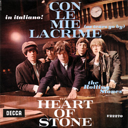 The Rolling Stones : As Tears Go By (Con Le Mie Lacrime) - Italy 1966