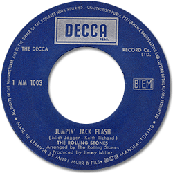 The Rolling Stones : Jumpin' Jack Flash - Lebanon 1968