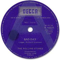 The Rolling Stones : Sad Day - Australia 1973