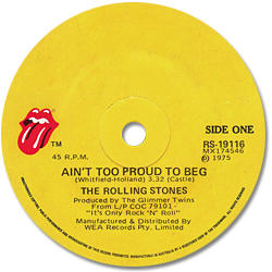 The Rolling Stones : Ain't Too Proud To Beg - Australia 1975