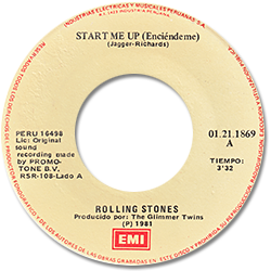 The Rolling Stones : Start Me Up - Peru 1981