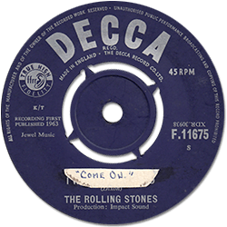 The Rolling Stones : Come On - UK 1963
