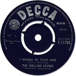 The Rolling Stones : I Wanna Be Your Man - UK 1963