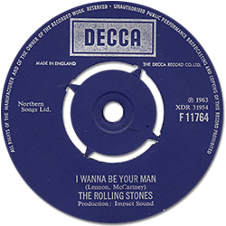 The Rolling Stones : I Wanna Be Your Man - UK 1972