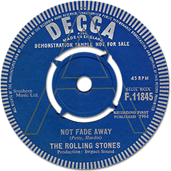 The Rolling Stones : Not Fade Away - UK 1964
