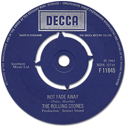The Rolling Stones : Not Fade Away - UK 1970