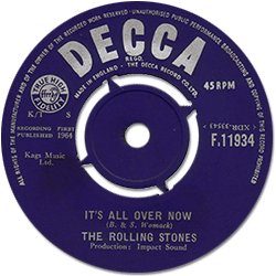 The Rolling Stones : It's All Over Now - UK 1964