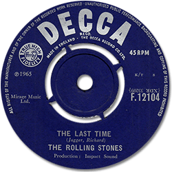 The Rolling Stones : The Last Time - UK 1965