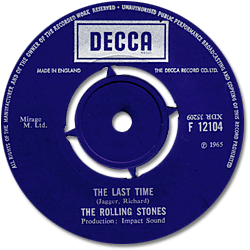The Rolling Stones : The Last Time - UK 1969