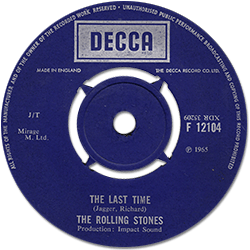 The Rolling Stones : The Last Time - UK 1968
