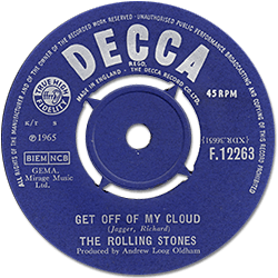 The Rolling Stones : Get Off Of My Cloud - UK 1965