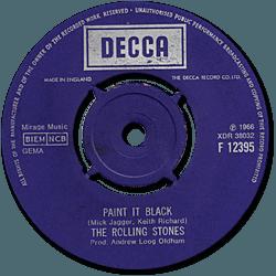 The Rolling Stones : Paint It, Black - UK 1970