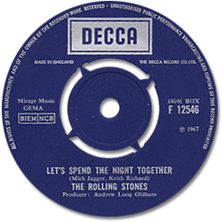 The Rolling Stones : Let's Spend The Night Together - UK 1967