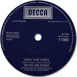 The Rolling Stones : Honky Tonk Women - UK 1969