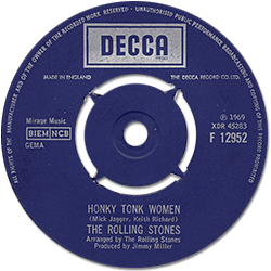 The Rolling Stones : Honky Tonk Women - UK 1969