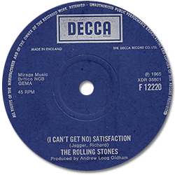 The Rolling Stones : Satisfaction - UK 1970