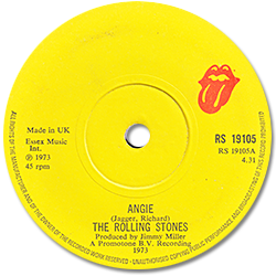 The Rolling Stones : Angie - UK 1973