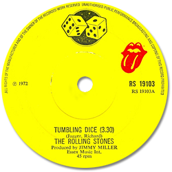 The Rolling Stones : Tumbling Dice - UK 1972
