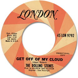 The Rolling Stones : Get Off Of My Cloud - USA 1965