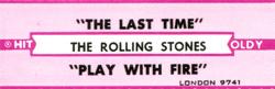 "The Rolling Stones - The Last Time - London LON-9741 USA 7"" CS"