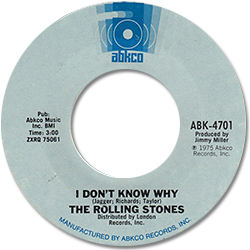 The Rolling Stones : I Don't Know Why - USA 1975