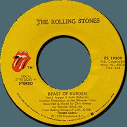 The Rolling Stones : Beast Of Burden - USA 1978
