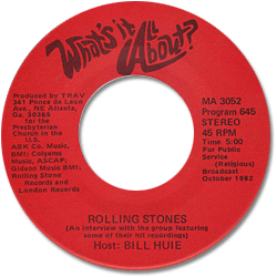 """Bob Dylan The Rolling Stones - What's It All About? - Trav MA 3052 USA 7"""""""