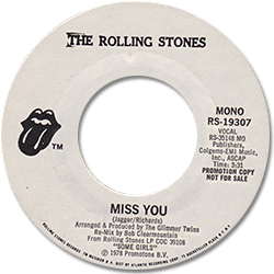 The Rolling Stones : Miss You - USA 1978