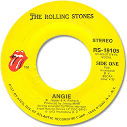 The Rolling Stones : Angie - USA 1973