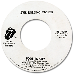The Rolling Stones : Fool To Cry - USA 1976