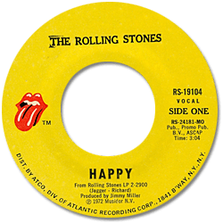 The Rolling Stones : Happy - USA 1972