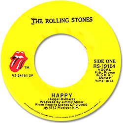 The Rolling Stones : Happy - USA 1973