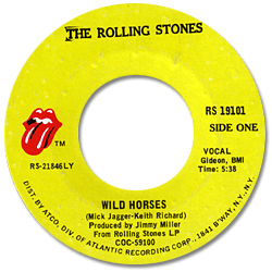 The Rolling Stones : Wild Horses - USA 1971