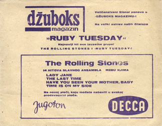 The Rolling Stones : Ruby Tuesday - Yugoslavia 1967