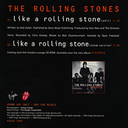 The Rolling Stones - Like A Rolling Stone - Virgin VSCDJ 1562 2 UK CDS
